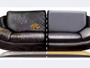 Перетяжка кожаного дивана в Реутове